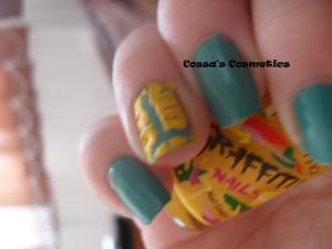 lemonade splash yellow nails oja flormar crackle