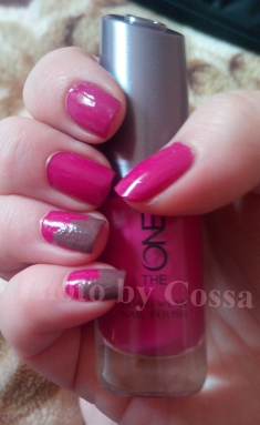 oriflame the one nailpolish swatch