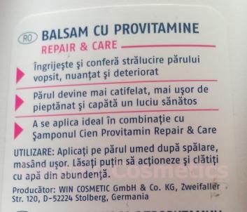 balsam hair conditioner cien lidl