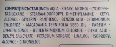ingredient list balsam hair conditioner cien lidl