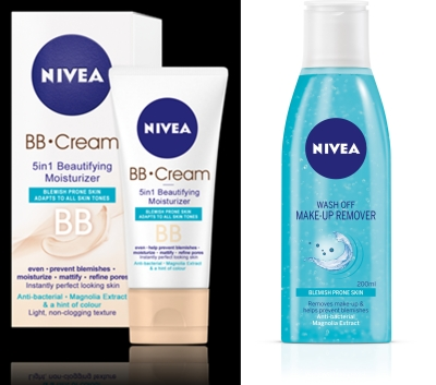 nivea ten impecabil bb cream demachiant make up remover